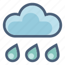cloud, drop, forecast, precipitation, rain, shower, weather icon