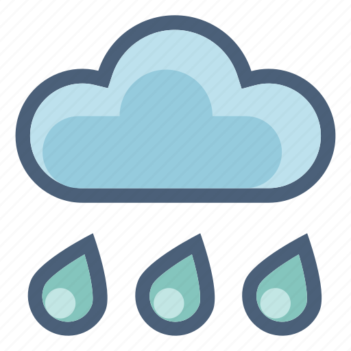 cloud, drop, forecast, precipitation, rain, shower, weather icon