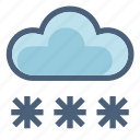 cloud, forecast, freeze, snow, snowflakes, weather, winter icon