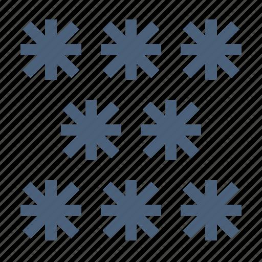 forecast, freeze, snow, snowflakes, temperatures, weather, winter icon