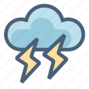 cloud, danger, data, forecast, storm, t-storm, weather icon