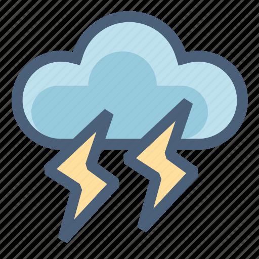 cloud, danger, data, forecast, storm, t-storm, weather icon
