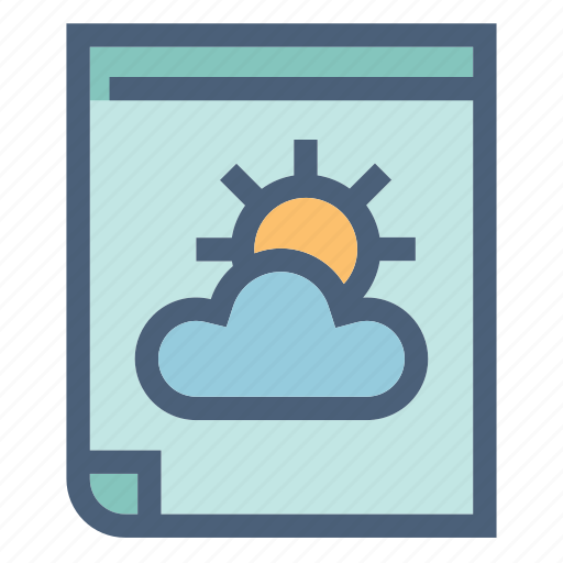 calendar, cloud, forecast, precipitation, sun, weather, year icon