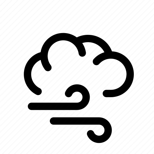 blow, cloud, clouds, forecast, weather, wind icon