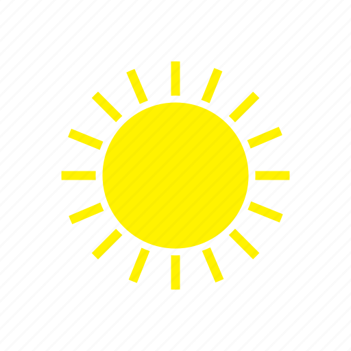 forecast, summer, sun, sunny, weather icon