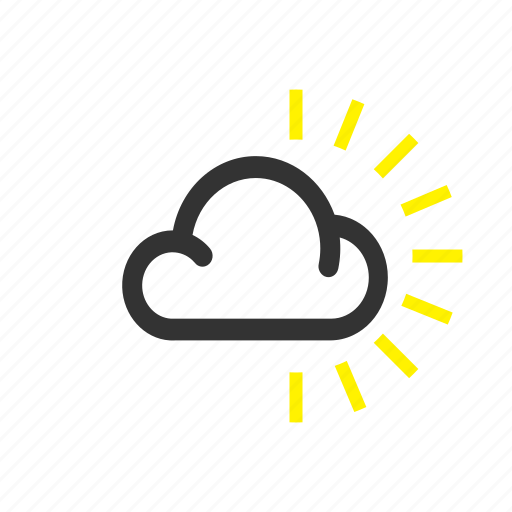 cloud, forecast, overcast, sunny, weather icon