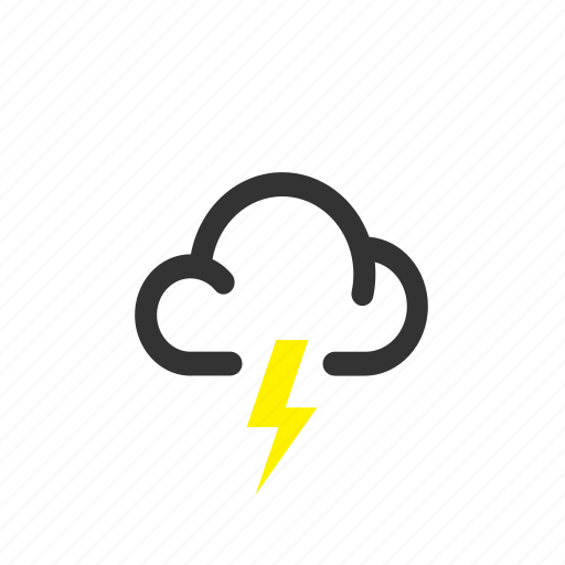 forecast, lightning, overcast, storm, weather icon