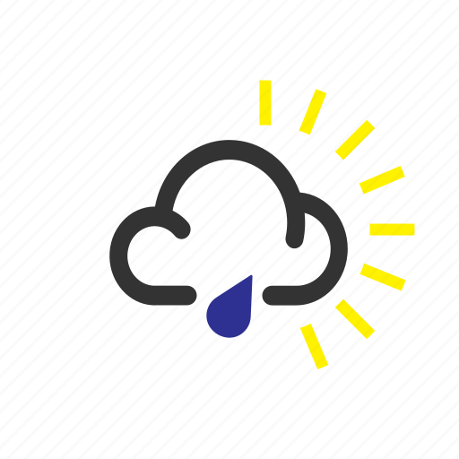 forecast, rain, sleet, sunny, weather icon