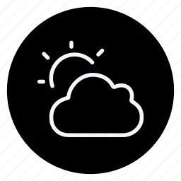 climate, cloud, cloud with sun, clouds, forecast, meteorology, sun icon