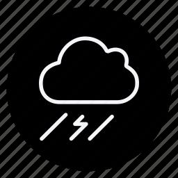 bolt, climate, cloud, forecast, rain, thunderbolt, weather icon