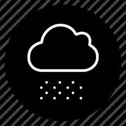 climate, cloud, forecast, meteorology, rain, snow, snowflake icon