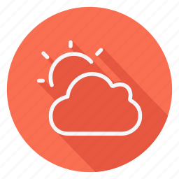 climate, cloud, clouds, forecast, meteorology, sun, weather icon