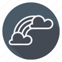 climate, cloud, forecast, meteorology, rain, rainbow, weather icon