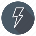 bolt, climate, cloud, forecast, meteorology, thunderbolt, weather icon