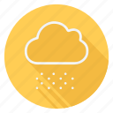 climate, cloud, forecast, meteo, snow, snowing, weather icon