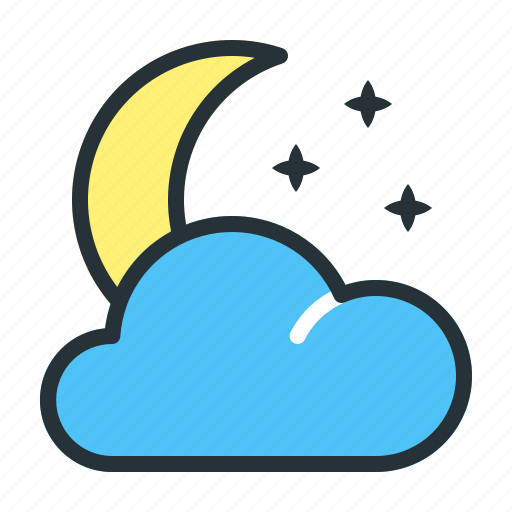 Crescent, forecast, moon, night, weather icon - Download on Iconfinder