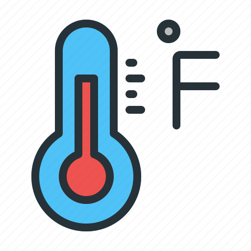 Fahrenheit, forecast, temperature, weather icon - Download on Iconfinder