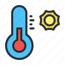 forecast, hot, temperature, weather icon