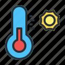 forecast, hot, temperature, weather