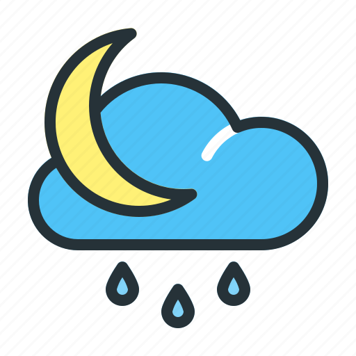 Forecast, moon, night, weather icon - Download on Iconfinder