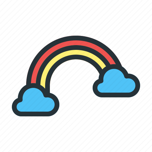 Cloud, forecast, rainbow, weather icon - Download on Iconfinder