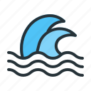 forecast, sea, tsunami, weather icon