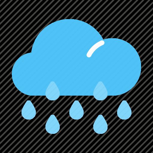 cloud, forecast, rainy, weather icon
