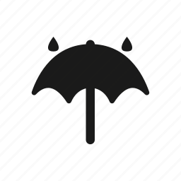 forecast, rain, rainy, safety, security, umbrella, weather icon