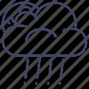 clouds, rain, moon, rainy icon