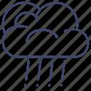 sun, clouds, rain, rainy icon