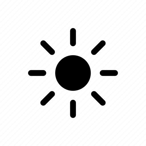 brightness, light, summer, sun, sunny, tempertaure icon