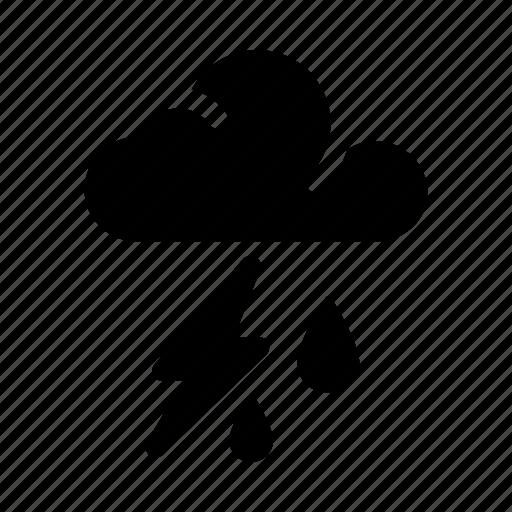 lightning, rain, rain storm, storm, thunder, thunderstorm icon