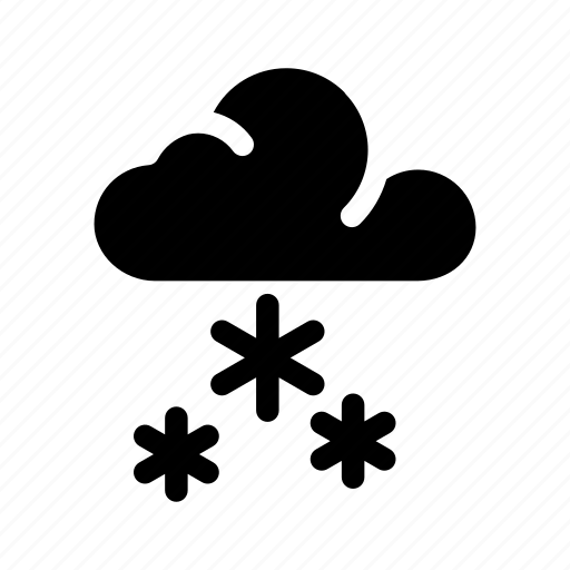 cloud, forecast, snow, snow cloud, snowfall, weather icon