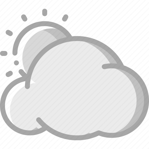 Cloud, cloudy, sun, sunny, weather icon - Download on Iconfinder
