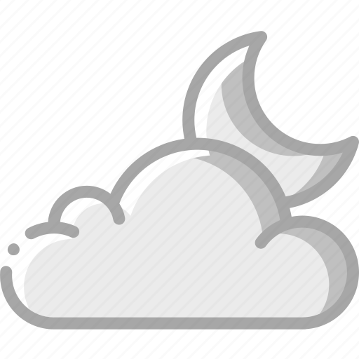 Cloudy, moon, night, weather icon - Download on Iconfinder