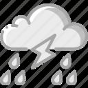 lightning, rain, storm, weather icon