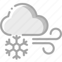 cloud, icy, snow, snowflake, weather, winds