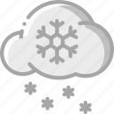 cloud, ice, snow, storm, weather icon