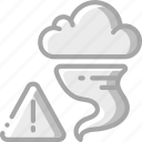 tornado, warning, weather icon