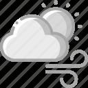 cloud, sun, warm, weather, winds