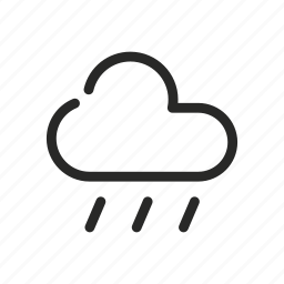 cloud, come down, fall, rain, rainy day, shower, weather icon