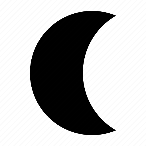 crescent, moon, movement, time, waning, weather icon