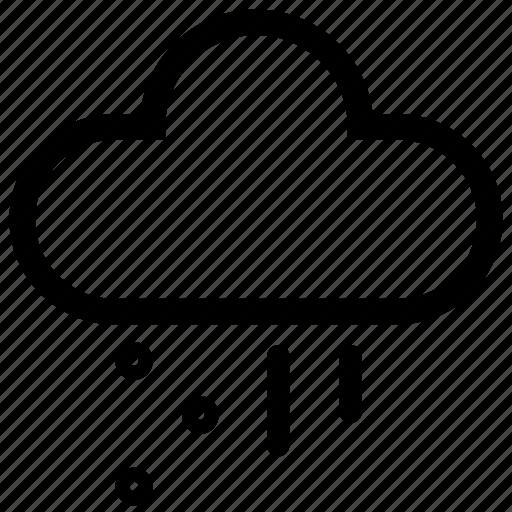 cloud, forecast, rain, sleet, snow, storm, weather icon