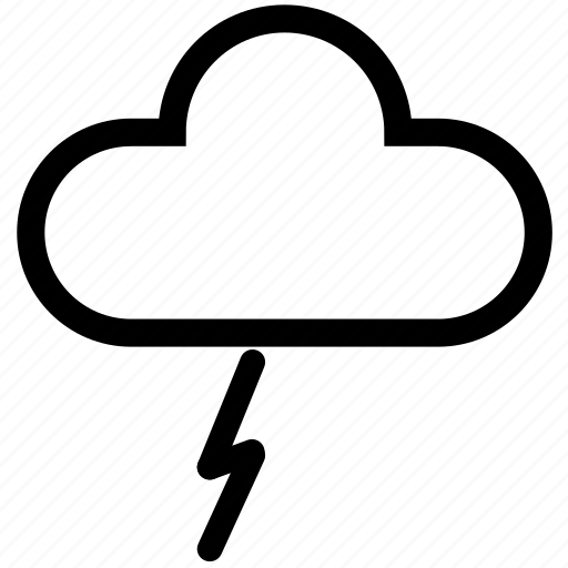 bolt, cloud, cloudy, forecast, lightning, storm, weather icon