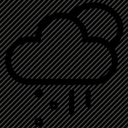 cloud, day, forecast, raining, sleet, storm, weather icon