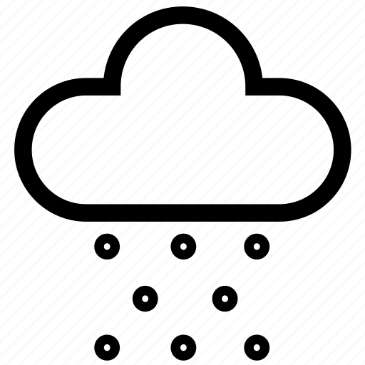 cloud, forecast, raining, snow, snowing, storm, weather icon
