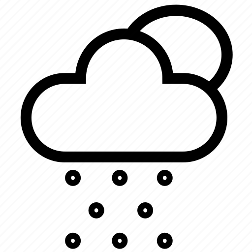 cloud, day, forecast, raining, snow, storm, weather icon