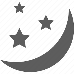 moon, night, star, stars, weather icon
