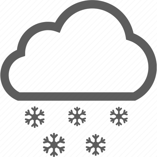 cloud, cold, freeze, frost, snowflake, weather, winter icon