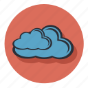 blue, cloud, forecast, weather icon
